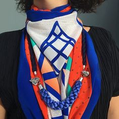 MAGNA SCARF 2 BY NUNES Statement piece, comfort accessory. Vibrant, custom, non-repeat surface design. Extra large square format. 100% silk crepe de chine. Produced & Manufactured in Como, Italy.