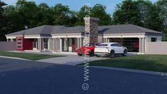 4 Bedroom House Plan - My Building Plans South Africa My Building, Building Plans, Beautiful House Plans, Beautiful Homes, 4 Bedroom House Plans, Open Plan, Master Suite, South Africa, My House