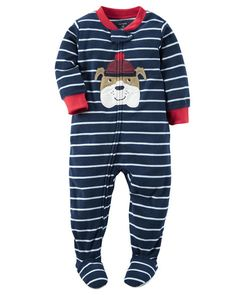 Toddler Boy 1-Piece Fleece PJs from Carters.com. Shop clothing & accessories…