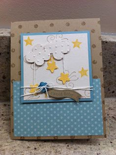 Stampin' Up! Baby Card by Brenna Anderson at Brenna's Blitherings
