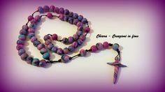 crocifisso purple version #fimo #handmade