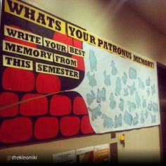 "rxforras:  By @thekleoniki ""One of my all time favorite bulletins :) #HarryPotter #patronus #reslife"" p"