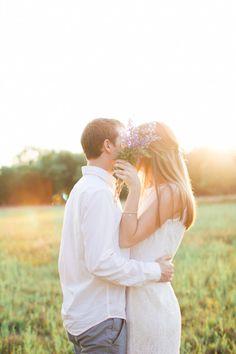 Secret kisses: http://www.stylemepretty.com/ohio-weddings/2015/06/24/oak-openings-preserve-engagement-session/ | Photography: Jenna Nicole - http://www.jennanicolephoto.com/