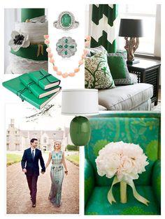 Emerald Green Wedding Invitation. $5.00, via Etsy.