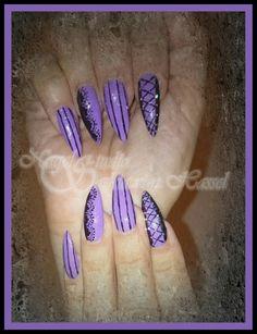 Purple gothic nails