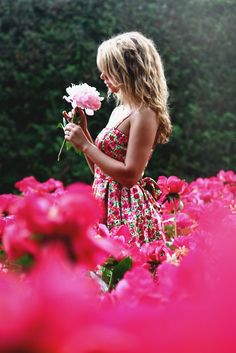 girl in the flowers. . . .