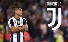 Download wallpapers Paulo Dybala, Juventus, Argentinian footballer, new Juventus emblem, Serie A, Italy