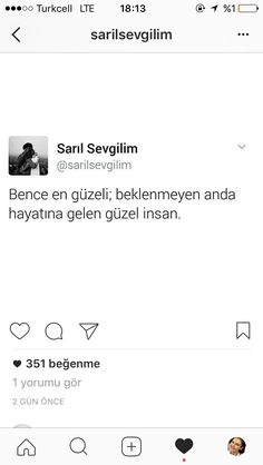 En güzel insan . Love Quotes, Inspirational Quotes, Word 3, Cool Words, Messages, Humor, Motivation, Sayings, Twitter