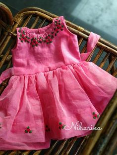 25 Trendy Embroidery Patterns For Baby Children Kids Dress Wear, Kids Gown, Little Girl Dresses, Kids Wear, Girls Frock Design, Baby Dress Design, Baby Frocks Designs, Kids Frocks Design, Cotton Frocks For Kids