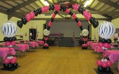 zebra party centerpieces | Party People Celebration Company - Special Event Decor Custom Balloon ...