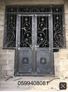 Grill Gate Design, Steel Gate Design, Front Gate Design, House Gate Design, Door Gate Design, Iron Front Door, Balcony Railing Design, Wrought Iron Doors, Steel Doors