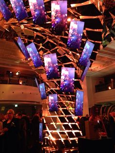 Action! The luxury cascade shining in the event #hennessy250 at the KaDeWe Berlin May5, by Opium