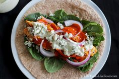 Spicy Buffalo Chicken & Quinoa Wraps - Cooking Quinoa