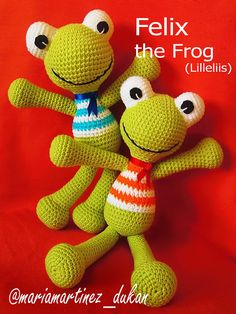 Lilleliis Felix the frog: FREE pattern, patrón GRATIS #Amigurumi #Crochet