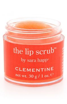 Free shipping and returns on sara happ® 'The Lip Scrub™ - Clementine' Lip Exfoliator at Nordstrom.com. Sarah Happ created The Lip Scrub after realizing there was nothing on the market to exfoliate lips so she went into her kitchen and made it herself. Now sold around the world, The Lip Scrub eliminates dry, flaky skin and leaves your lips ridiculously soft and supple.<br><br>Clementine is the juicy, vibrant result of what happens when mandarins meet sweet oranges.