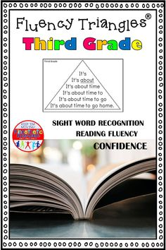 Build reading fluency, reading confidence, AND sight word recognition with fluency triangles®. Great for ALL students, but especially for your struggling readers. Perfect for RTI. This is a set of triangles for all 41 of the Dolch Third Grade sight words. Second Grade Sight Words, Third Grade, Reading Fluency Activities, Reading Task Cards, Learning Sight Words, Love Teacher, Reading Practice, Struggling Readers, Reading Intervention