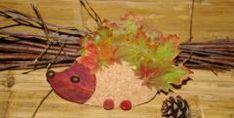 bricolage enfant et hérisson avec feuille d'automne, oct. 2010