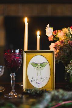 reception table name ideas #weddingreception #tablenames #weddingchicks http://www.weddingchicks.com/2014/04/14/mystic-masterpiece-wedding-inspiration/