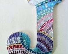 Mosaico de vivero pared arte el arte de la carta por HamptonMosaics