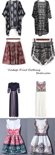 Vintage Print Clothing in Cloud. Give a toast to your fellow professors in these sophisticated clothing.