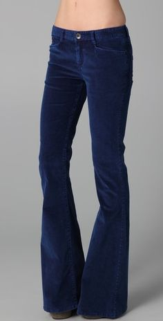 wide leg + corduroy/or velvet + navy/or purple