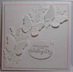 In My Craft Room: White Butterfly Wedding Card by Glenda Mollet Butterfly Wedding, Butterfly Cards, White Butterfly, Pretty Cards, Love Cards, Sympathy Cards, Greeting Cards, Wedding Cards Handmade, Wedding Anniversary Cards
