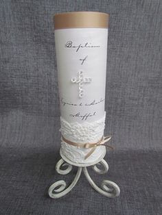 baptism candle idea