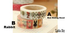 Red Riding Hood washi tape (A) von Fabric In Wonderland auf DaWanda.com