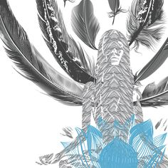 Yoga Illustration Printable Art Lotus Pose by BohoVibeCreations