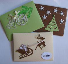 Christmas. Karácsonyi boríték - karácsonyi (pénz)ajándék átadásához Christmas Cards, Merry Christmas, Christmas Decorations, Playing Cards, Greeting Cards, Gift Wrapping, Scrapbook, Paper, Gifts