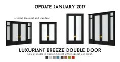 """peacemaker-ic: """" UPDATE 30/01/2017: I realised I forgot the matching door, so that has now been added to the archive. It is now available in medium wall height and all original swatches. I was..."""