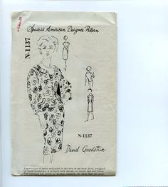 1960s Dress & Jacket Spadea N-1137 Pattern by VioletCrownEmporium