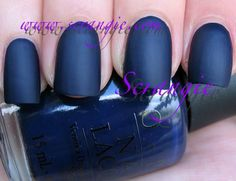 Love this look? Try OPI- Russian Navy and Essie- Matte About You.