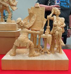 Photos of Marv Kaisersatt carvings on exhibit at the Maquoketa Art Experience during Congress Week 2016 Simple Wood Carving, Wood Feather, Wood Carving Designs, Wooden Art, Whittling, Sculpture Art, Wood Crafts, Woodworking Projects, Sculpting