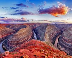 Breathtaking view of Goosenecks State Park in Utah