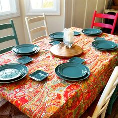 Our table setting from Pottery Barn!