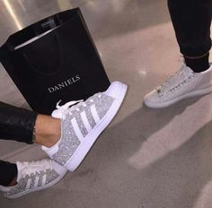Woman Adidas Superstar Gray, White Source by soumyabouguerra Cheap Adidas Shoes, Adidas Shoes Women, Adidas Sneakers, Zapatillas Casual, Shoe Boots, Shoes Heels, Bling Shoes, Dream Shoes, Custom Shoes