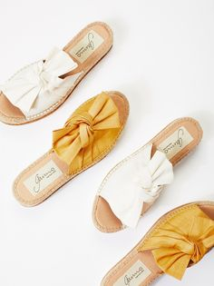 Samantha Flatform Sandal | Perfect femme sandal for the season, these comfortable flatforms feature a beautiful bow detail on the top of the foot. * Padded footbed