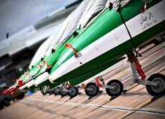Jet's lined up, ready for flight @ RIAT