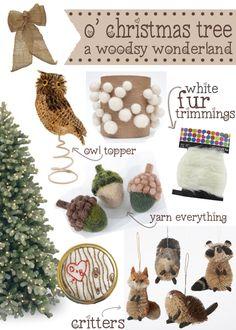 A Woodsy Wonderland Christmas Tree