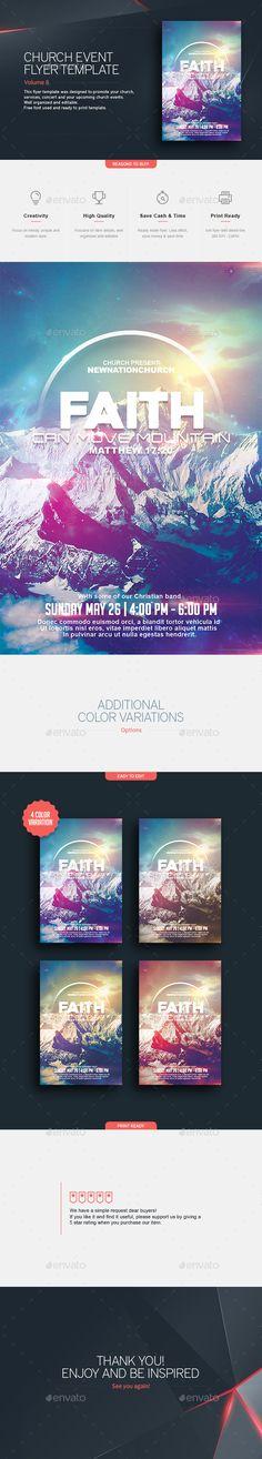 Faith - Church Flyer #soul winning #sunday #worship • Available here → http://graphicriver.net/item/faith-church-flyer/15755369?s_rank=145&ref=pxcr