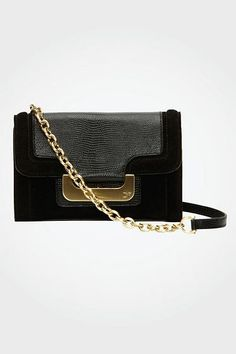 5490333dfd9 Harper Charlie Suede Bag   Bags by DVF Wedding Clutch, Suede Leather, Black  Suede
