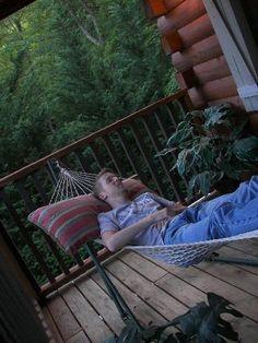 Nothing beats relaxing in a mountain cabin!