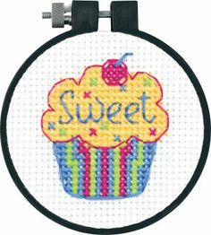 Good starter piece-   Cupcake Counted Cross Stitch