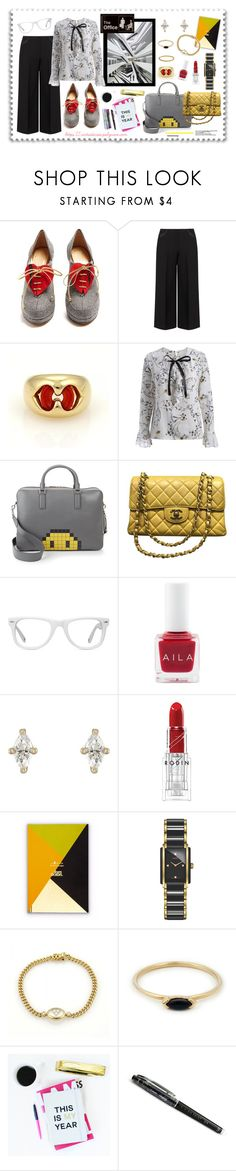 """Working Hard Style"" by virtudiaries ❤ liked on Polyvore featuring Charlotte Olympia, navabi, Bulgari, Anya Hindmarch, Chanel, Muse, Aila, Sara Weinstock, Rodin and Tom Dixon"