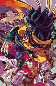 Wolverine, Nightcrawler & Colossus by Edwin Huang
