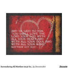 Surrendering All Matthew 22:37 Scripture Photo Art Fleece Blanket