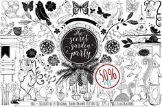 441 Hand Drawn Vector Design Resouce by FishScraps on Creative Market