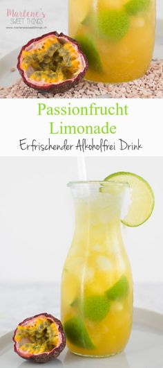 Do you need a refreshment for the summer? I can recommend the passion fruit lemonade. You can mix an alcohol-free caipirinha with just a few ingredients. The Ipamara brings the summer vacation to your home. The drink will delight your family. Rumchata Recipes, Drink Recipes Nonalcoholic, Drinks Alcohol Recipes, Cocktail Recipes, Ginger Ale Punch, Vegetable Ratatouille, A Food, Food And Drink, Clean Eating Soup