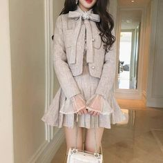 Kpop Fashion Outfits, Edgy Outfits, Preppy Outfits, Korean Outfits, Mode Outfits, Classy Outfits, Fashion Dresses, Korean Girl Fashion, Ulzzang Fashion